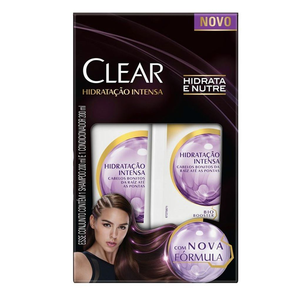 Kit Shampoo + Condicionador Clear Hidratação Intensa 200ml