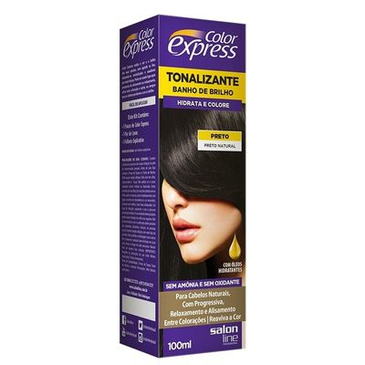 Kit Tonalizante Color Express Salon Line Preto Natural 100ml
