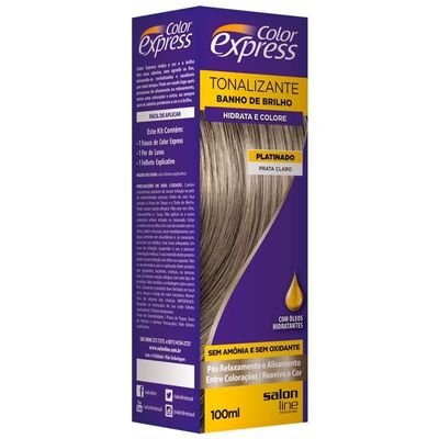 Kit Tonalizante Salon Line Color Express Prata Claro