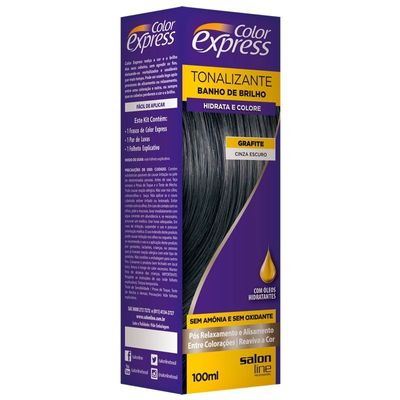 Kit Tonalizante Salon Line Color Express Cinza Escuro
