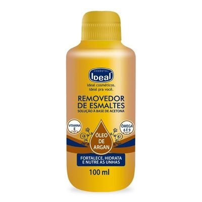Removedor De Esmaltes Ideal Óleo de Argan 100ml