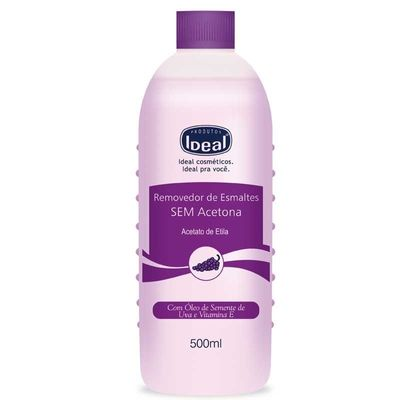 Removedor De Esmaltes Ideal Sem Acetona 500ml