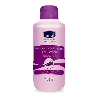 Removedor De Esmaltes Ideal Sem Acetona 100ml