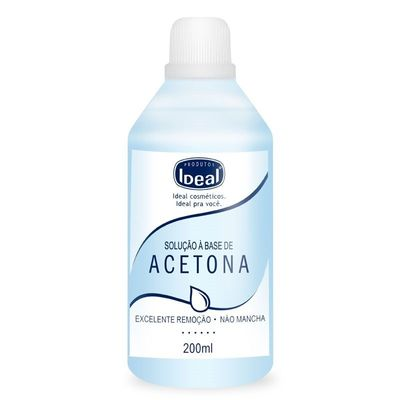 Removedor De Esmalte Ideal A Base Acetona 200ml