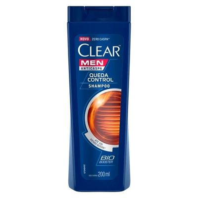 Shampoo Clear Men Anticaspa Queda Control 200ml