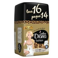 Absorvente Diana Active Fashion Suave Com Abas Leve 16 Pague 14