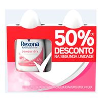 Kit Desodorante Roll On Rexona Power 50ml 2 Unidades