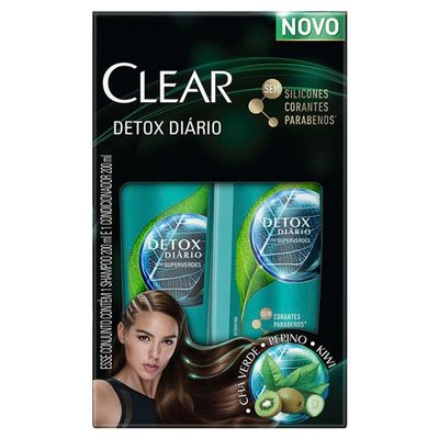 Kit Shampoo + Condicionador Clear Anti-Caspa Detox Diário 200ml