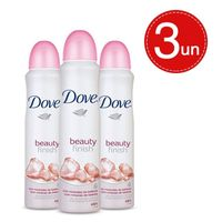 Kit Desodorante Aerosol Dove Beauty Finish 89g/150ml - 3 Unidades