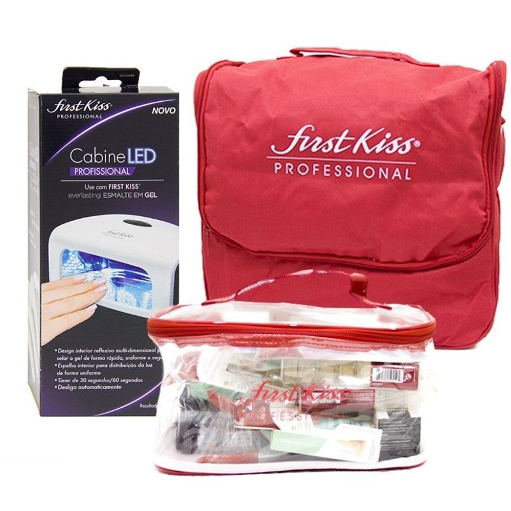 Kit Bag Gel E Agrygel Kiss New York Com Cabine (20 Produtos)