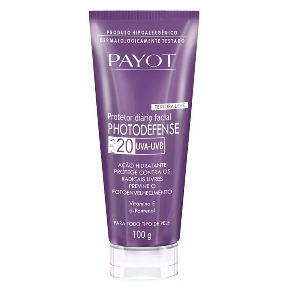 Protetor Solar Facial Payot Photodefense FPS20 100ml
