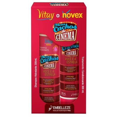 Kit Shampoo + Condicionador Novex Meus Cachos De Cinema 300ml