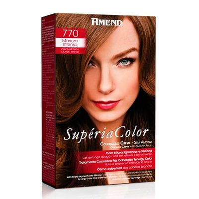 Kit Tonalizante Supéria Color Amend 770 Marrom Intenso