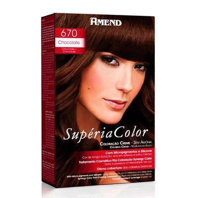 Kit Tonalizante Supéria Color Amend 670 Chocolate
