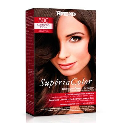 Kit Tonalizante Supéria Color Amend 500 Castanho Claro