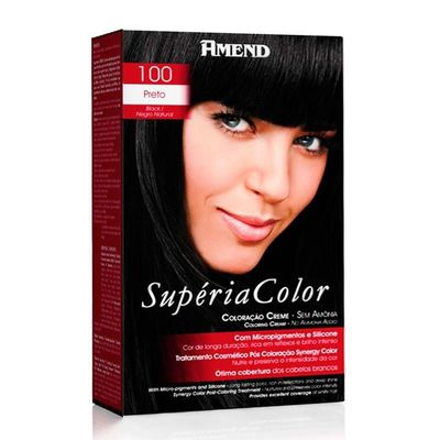 Kit Tonalizante Supéria Color Amend 100 Preto