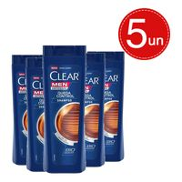 Shampoo Clear Men Anticaspa Queda Control 400ml Leve 5 Pague 3