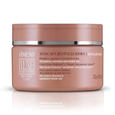 Máscara De Tratamento Amend Luxe Creations Blonde Care 250g