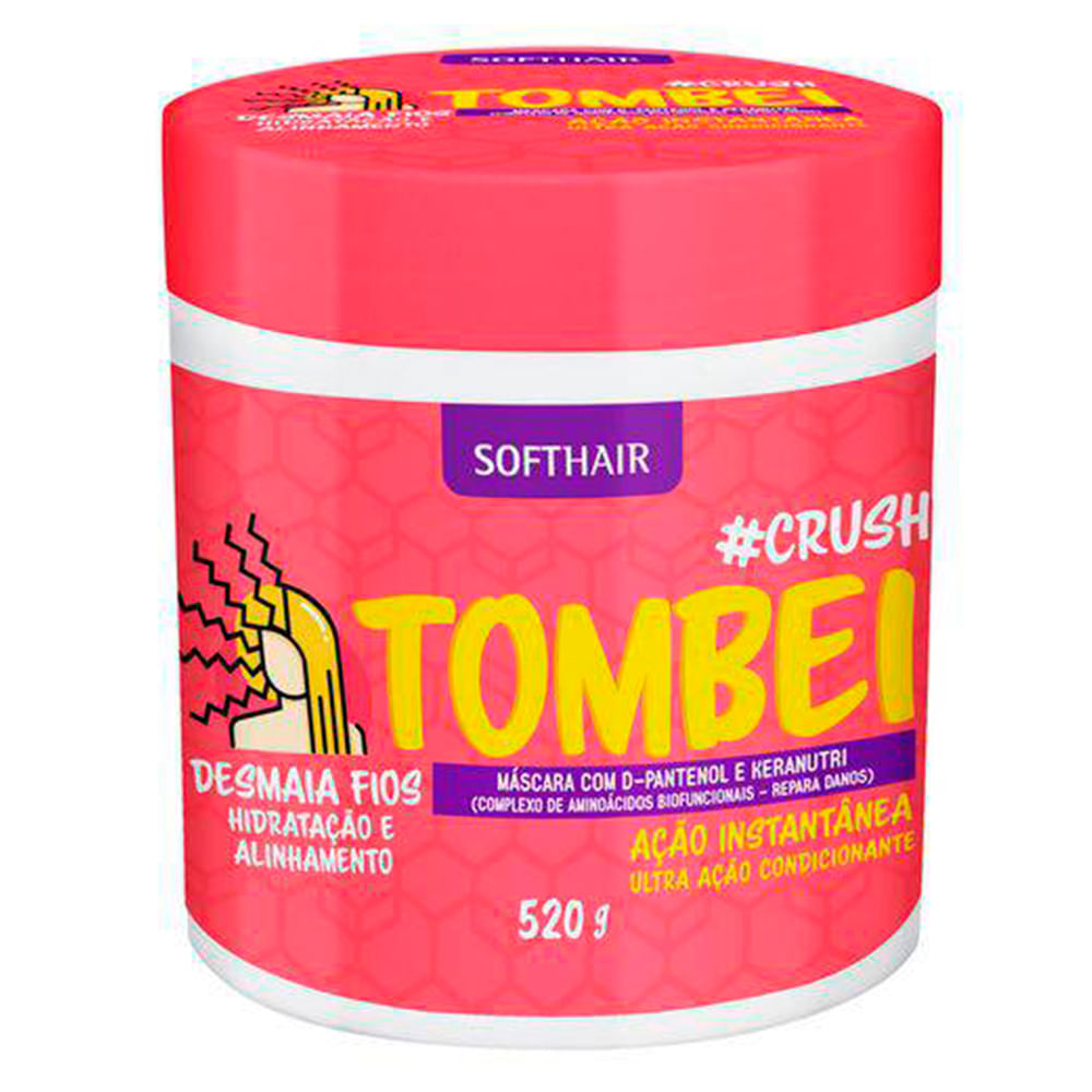 Máscara De Tratamento Soft Hair #Crush Tombei 520g