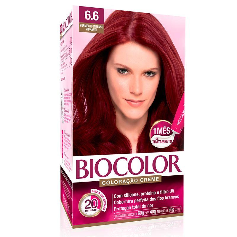 Kit Biocolor Cream Dye Intense Vibrant Red 6.6