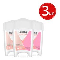 Kit Desodorante Antitranspirante Rexona Clinical Classic Women Stick - 3 unidades