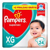 Fralda Pampers Supersec XG 24 Unidades