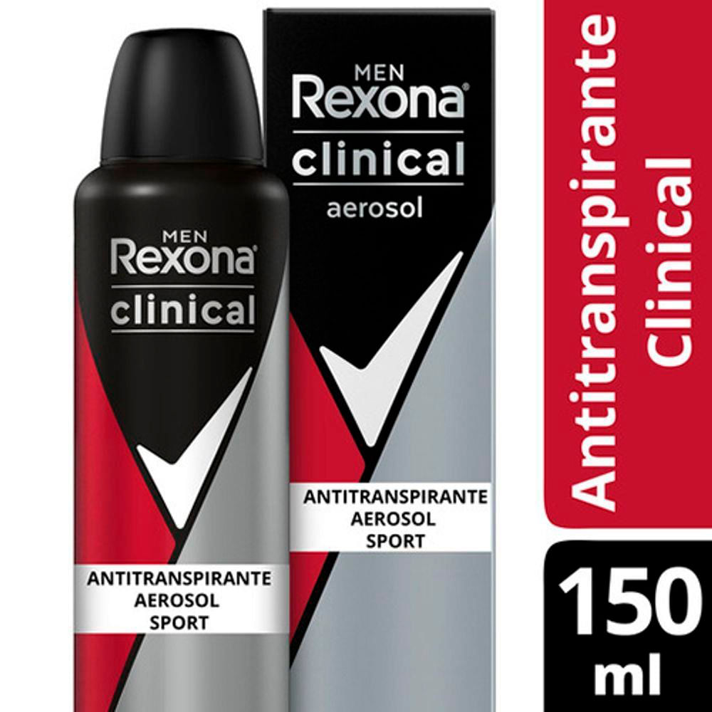 Desodorante Rexona Clinical Men Sport Aerosol 150ml