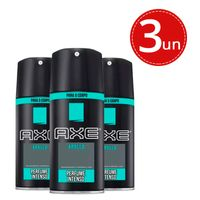 Kit Desodorante Aerosol Axe Body Spray Apollo 90g - 3 unidades