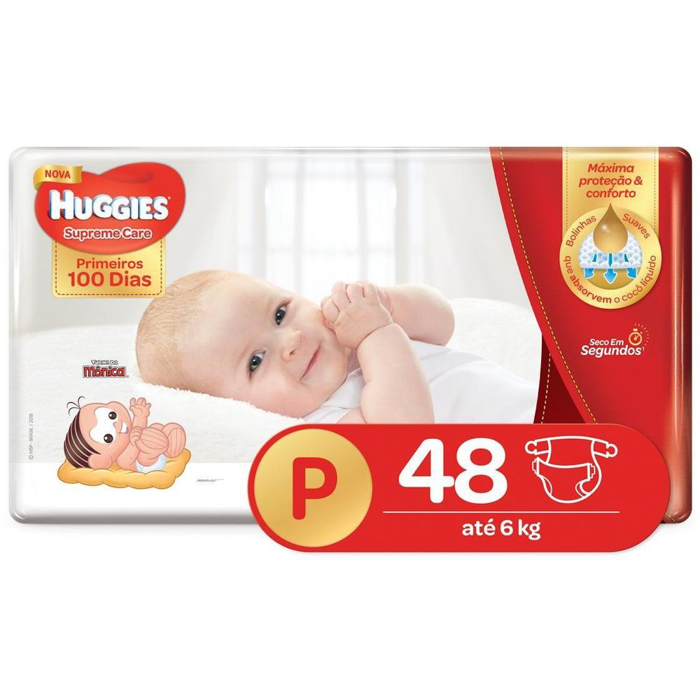 Fralda HUGGIES Supreme Care P - 48 Fraldas