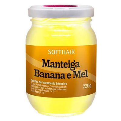 Manteiga Soft Hair Banana E Mel 220g