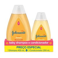 Kit Johnson's Baby Tradicional Shampoo 400ml + Condicionador 200ml