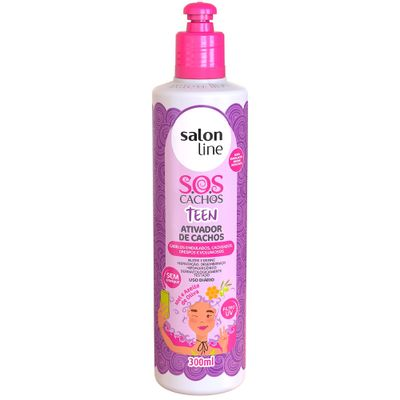 Ativador De Cachos Salon Line Sos Teens 300ml