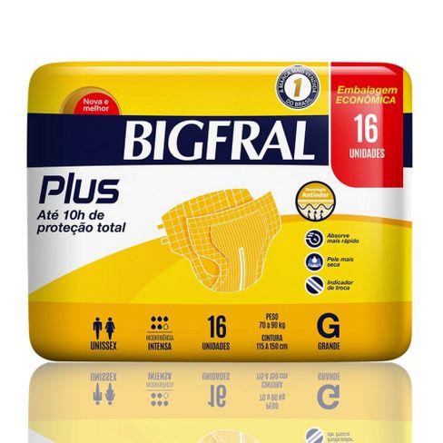 Fralda Geriátrica Bigfral Plus G Com 16 Unidades