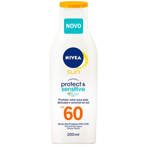 Protetor Solar Nivea Sun Protect E Sensitive FPS60 200ml