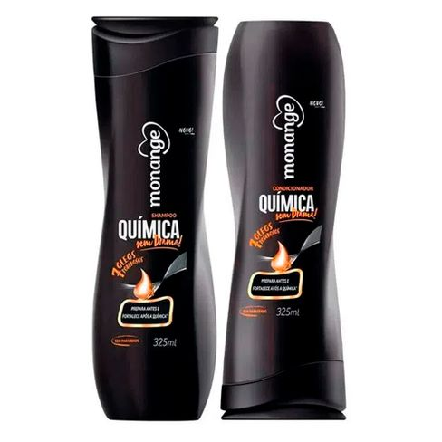 Kit Shampoo e Condicionador Monange Química Sem Drama 325ml