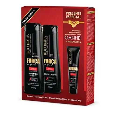 Kit Bio Extratus Força Com Pimenta Shampoo + Condicionador 350ml + Máscara 90g