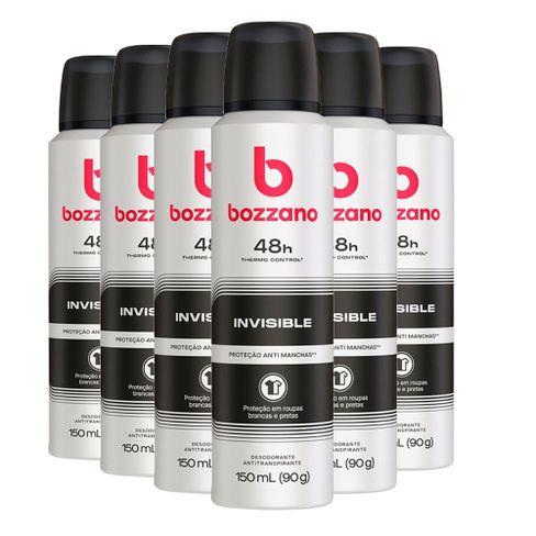 Kit Desodorante Aerosol Bozzano Invisible 90g - 6 Unidades