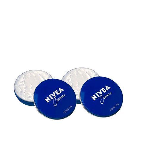 Kit Creme Hidratante Nívea Latinha Azul 56g - 2 unidades