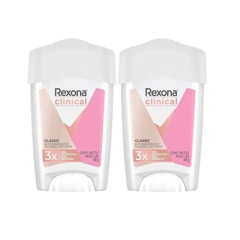 Kit Desodorante Antitranspirante Rexona Clinical Classic Women Stick - 2 Unidades