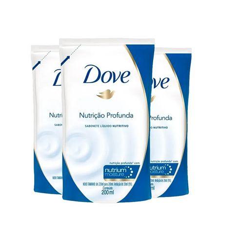 Sabonete Líquido Dove Refil Nutrição Profunda 200ml Leve 3 Pague 2