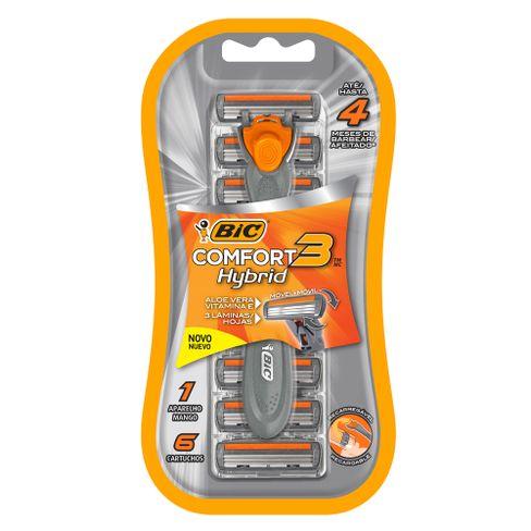 Aparelho De Barbear Bic Comfort 3 Hybrid + 6 Cargas