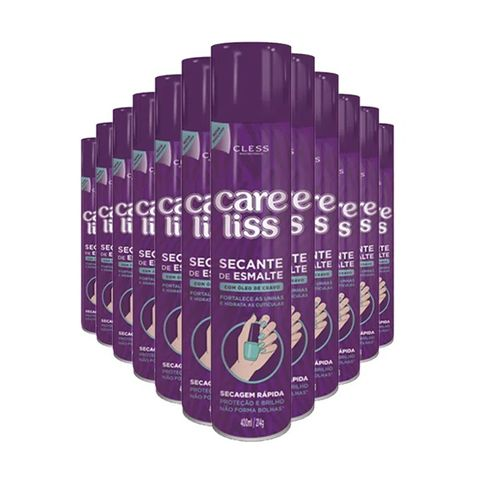 Kit Spray Secante Esmalte Care Liss Óleo De Cravo 400ml - 12 Unidades