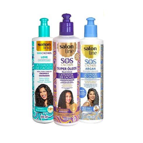 Kit Ativador De Cachos Salon Line SOS