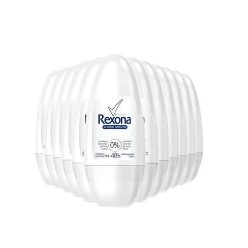 Kit Desodorante Roll On Rexona Sem Perfume 50ml - 12 Unidades
