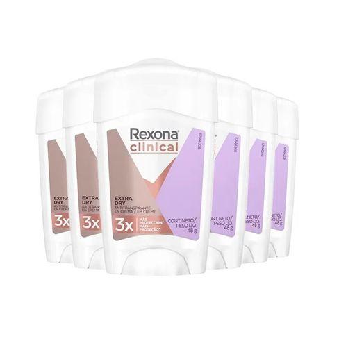 Kit Desodorante Antitranspirante Rexona Clinical Women Extra Dry 48g - 6 Unidades