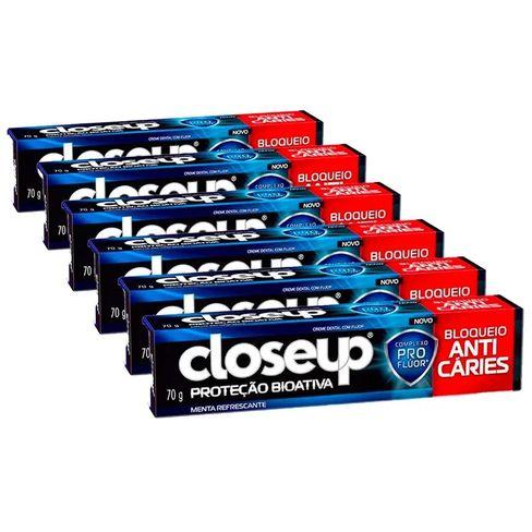 Kit Creme Dental Close Up Anti Cáries 70g - 6 Unidades