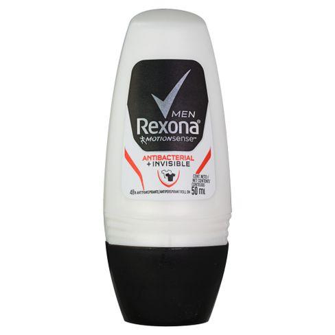 Desodorante Antitranspirante Rexona Masculino Roll On Antibacterial + Invisible 50 ml